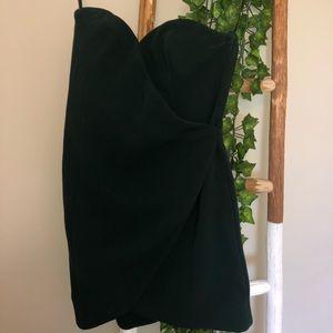 NBD Strapless Emerald Green Dress